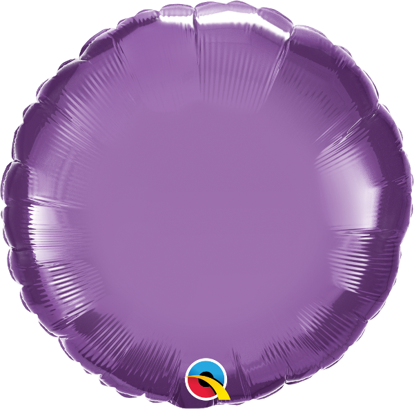 "18"" Chrome Purple Circular Foil Balloon"