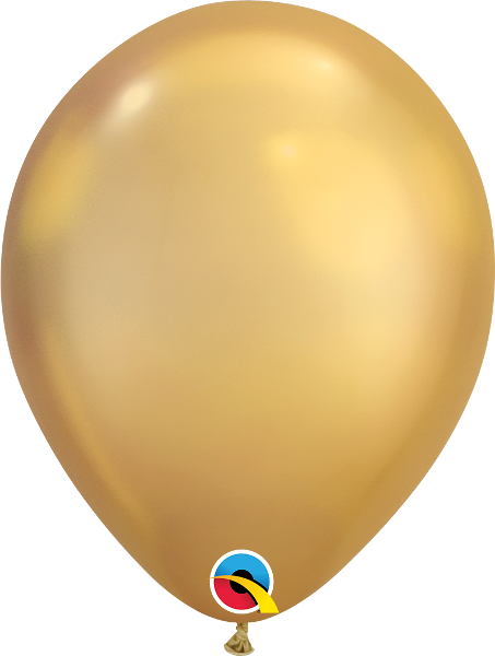 "Chrome Gold 11"" Balloons"