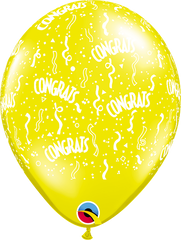 "Congrats-A-Round Jewel Citrine Yellow 11"" Balloons"