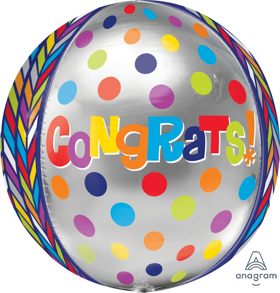 Dotty Geometric Congrats Balloon Orbz