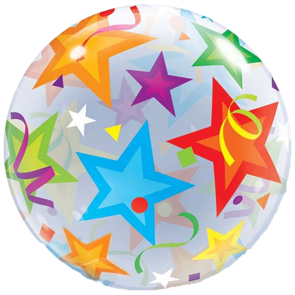 Colorful Stars Bubble Balloon