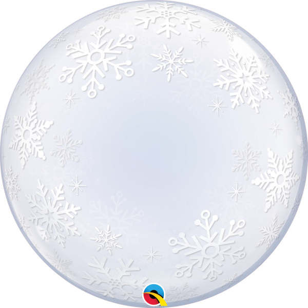 Frosty Snowflakes Deco Bubble Balloon