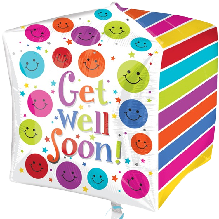 Get Well Soon Cube Balloon