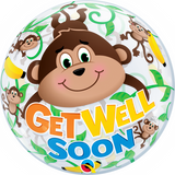 Get Well Soon Monkey Bubble Balloon