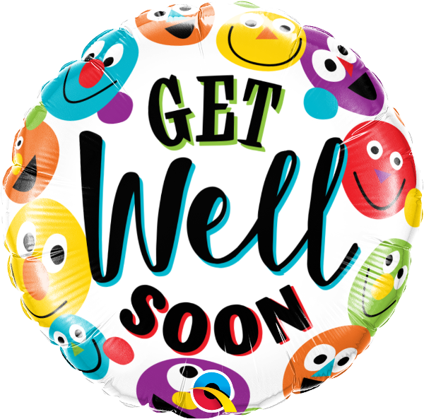 Get Well Soon Smileys Balloon