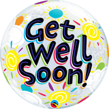 Get Well Soon Sunny Day Bubble Balloon