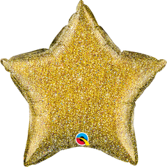 "20"" Glittergraphic Gold Star Foil Balloon"