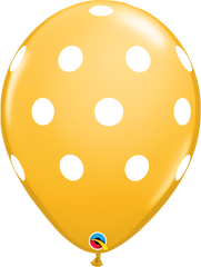 "Big Polka Dots Fashion Goldenrod 11"" Balloons"