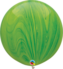 SuperAgates Green Rainbow 3ft. Round Balloons