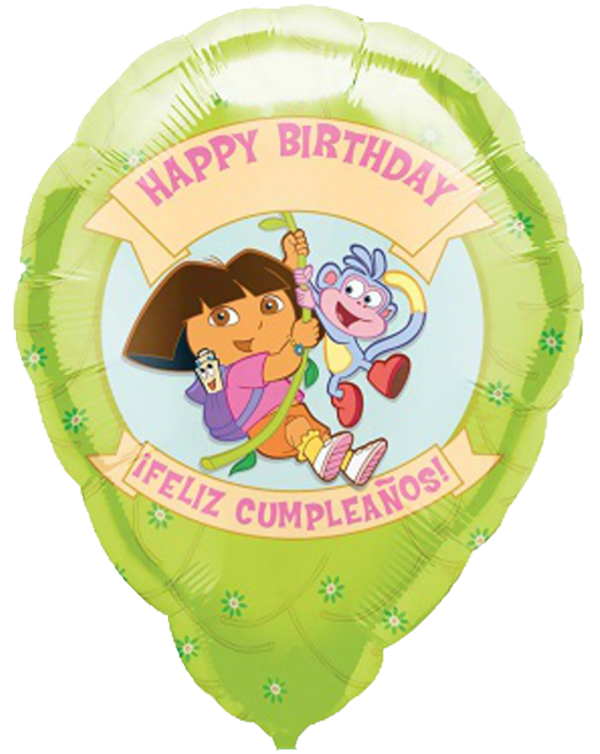 Happy Birthday Dora & Boots Balloon