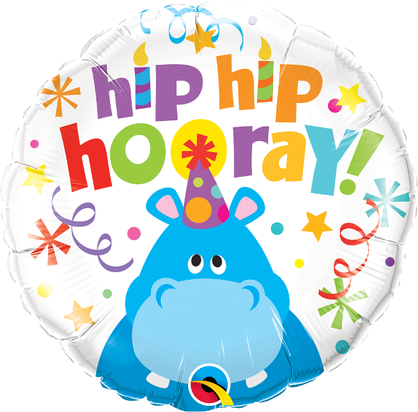 Hip Hip Hooray Hippo Balloon
