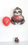 Love Sloth Mylar Foil Balloon