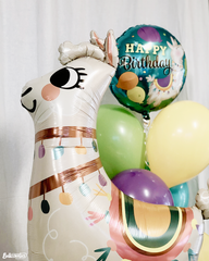 Llama Happy Birthday Deluxe Balloon Package