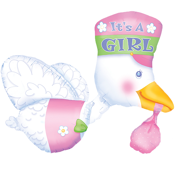 It's A Girl Baby Duck Balloon