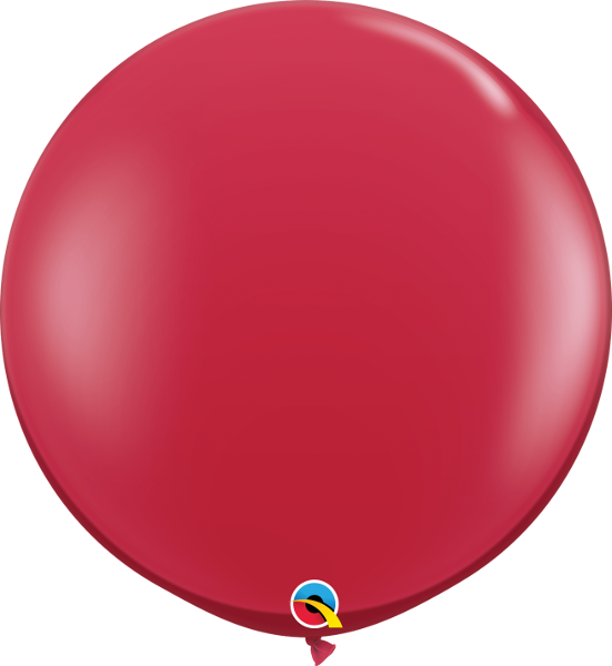 Jewel Ruby Red 3ft. Round Balloons