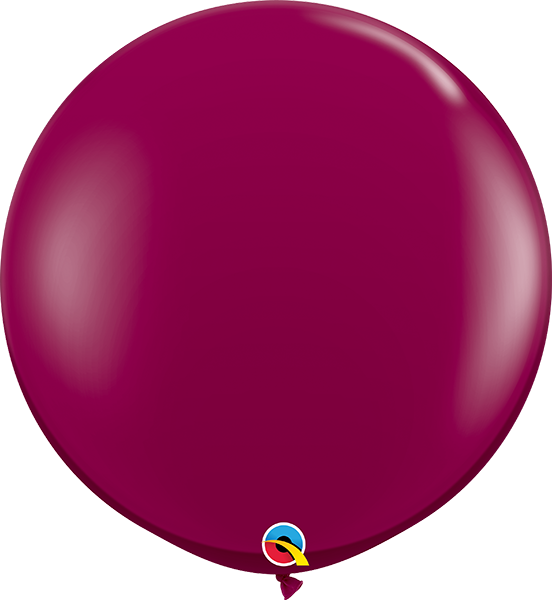Jewel Sparkling Burgundy 3ft. Round Balloons