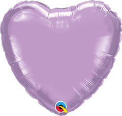 "18"" Lavender Heart Foil Balloon"