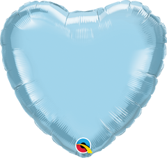"18"" Light Blue Heart Foil Balloon"