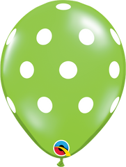 "Big Polka Dots Fashion Lime Green 11"" Balloons"