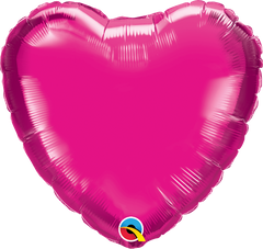 "18"" Magenta Heart Foil Balloon"