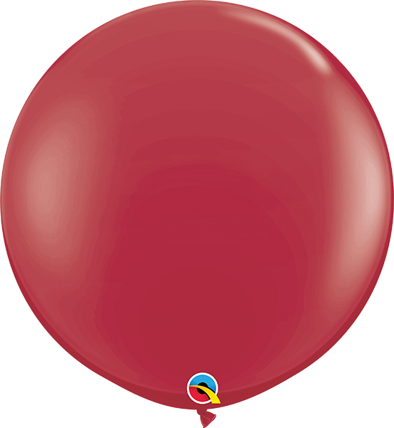 Fashion Maroon 3ft Round Balloons