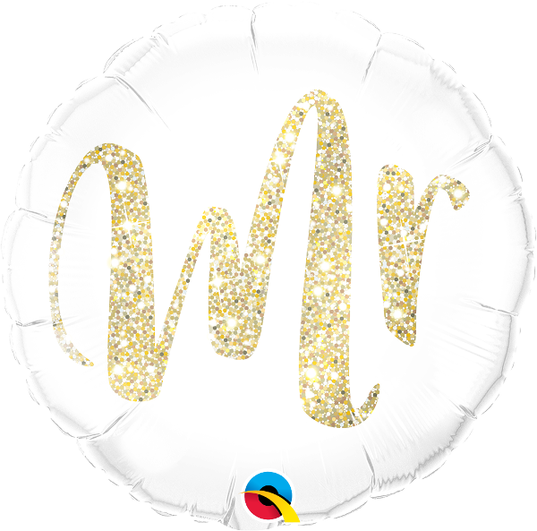 Mr. Glitter Gold Balloon