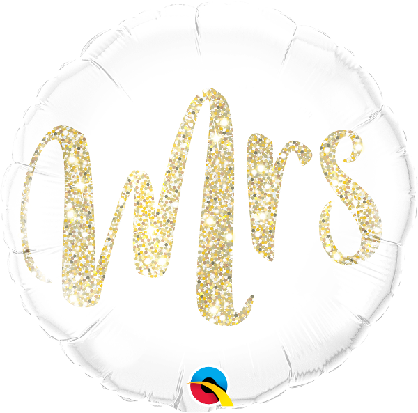 Mrs. Gold Glitter Balloon