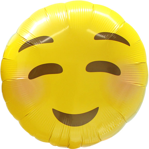 Blush Emoji Foil Balloon