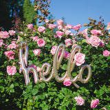 "Rose Gold ""Hello"" Foil Balloon Letters"