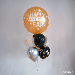 New Year Sparkles & Dots 3 ft. Balloon Bundle of 7