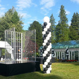 Spiral/Solid 12ft Outdoor Balloon Column