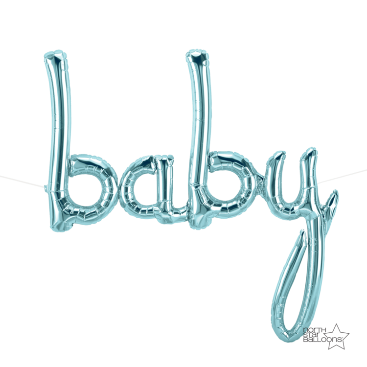 "Pastel Blue ""Baby"" Foil Balloon Letters"