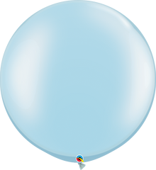 Pearl Light Blue 3ft. Round Balloons