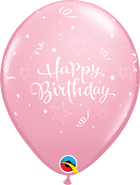 "Happy Birthday Shining Star Pink 11"" Balloons"