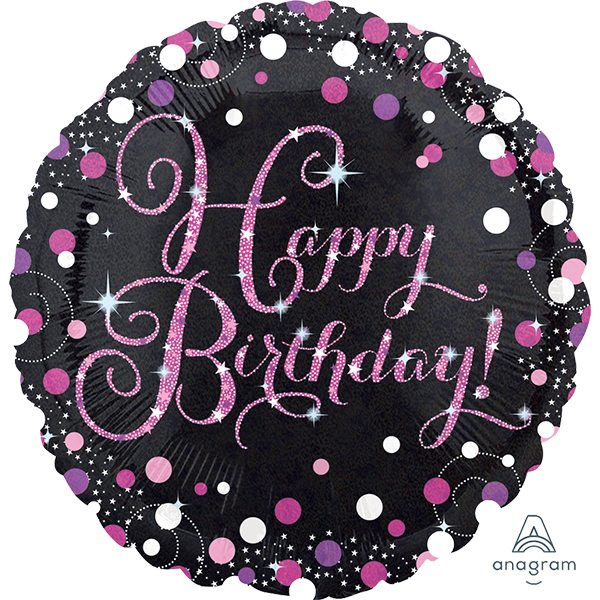 Pink Celebration Birthday Balloon