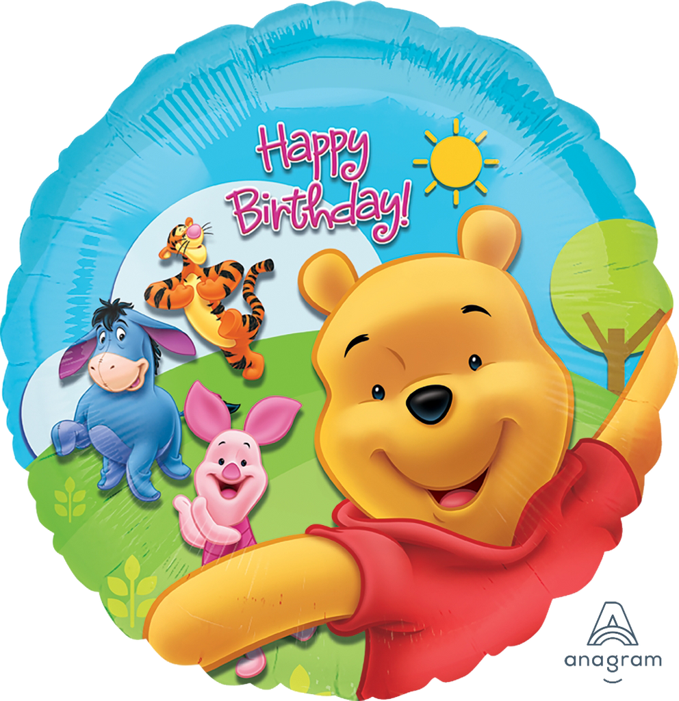 Pooh & Friends Sunny Happy Birthday Balloon