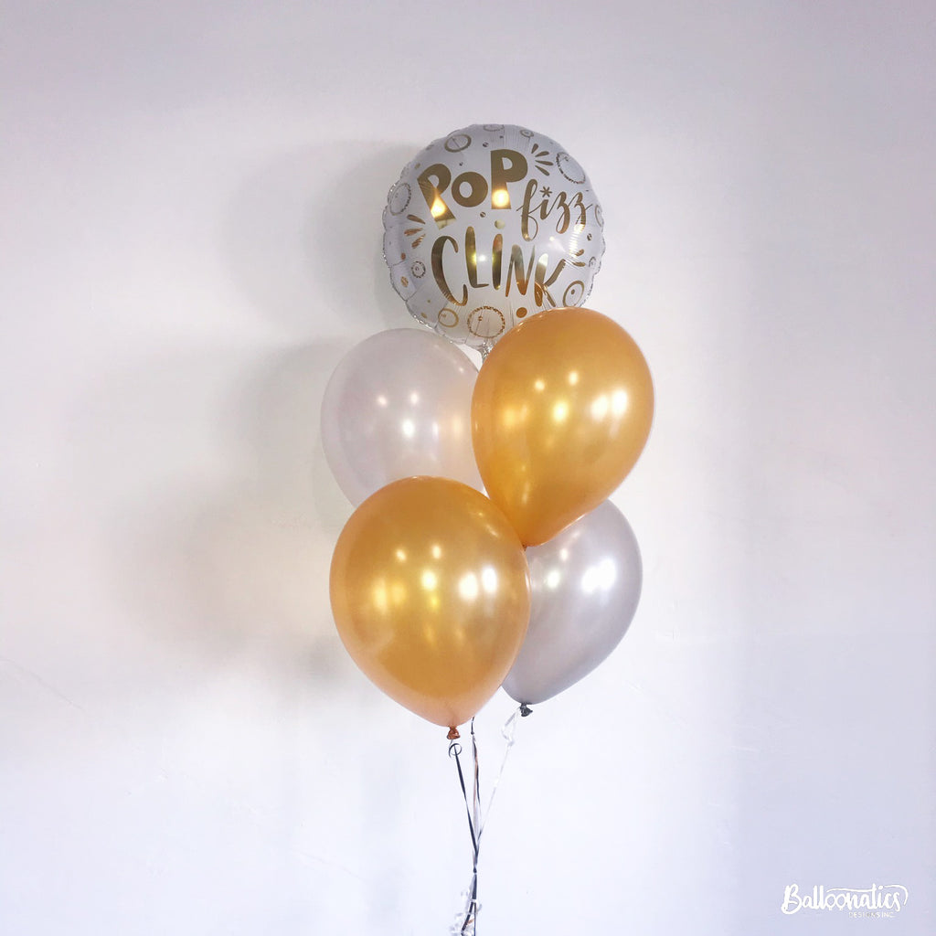 Pop Fizz Clink Balloon Bundle of 5