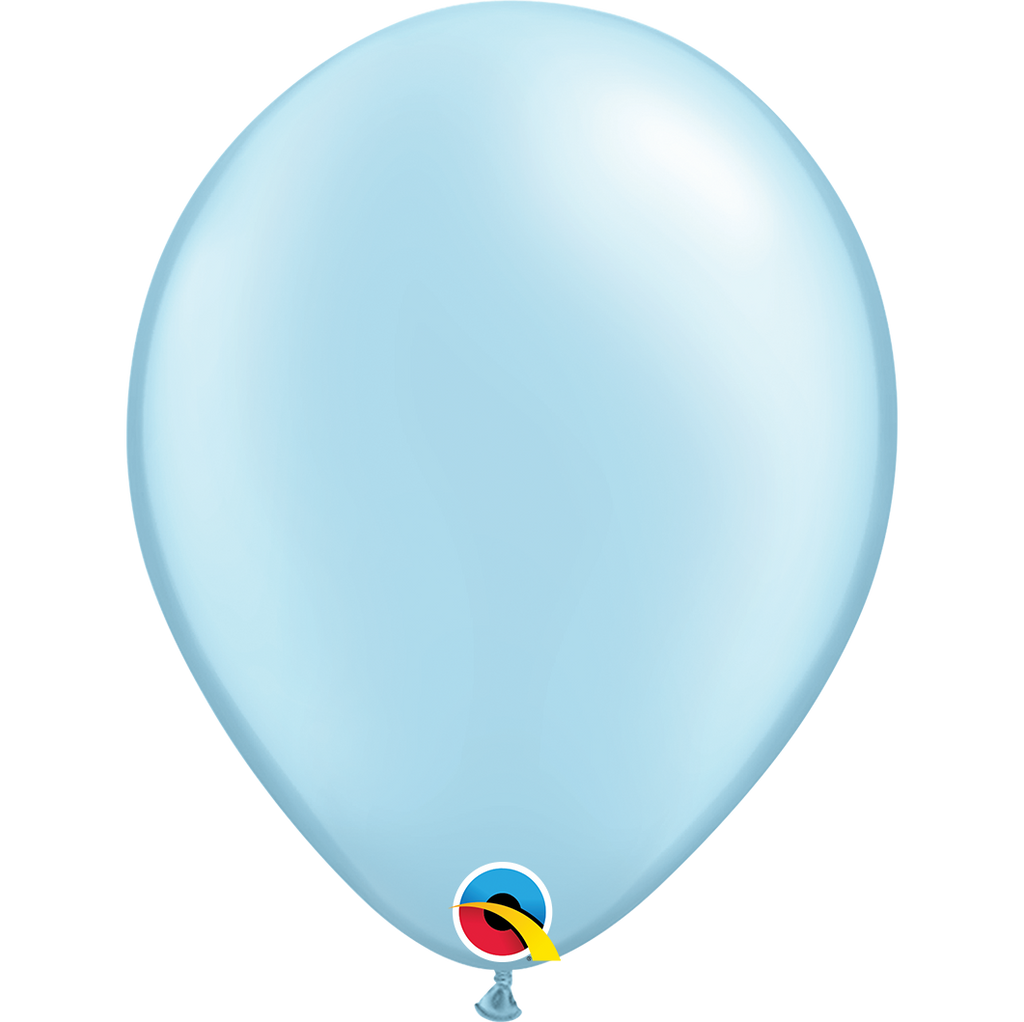 Pearl Light Blue Balloons