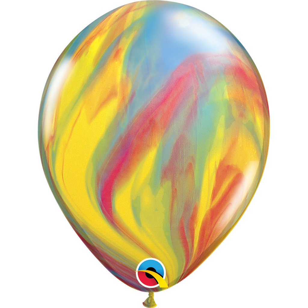 "SuperAgates Traditional Rainbow 11"" Balloons"