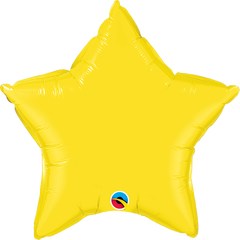 "20"" Yellow Star Foil Balloon"