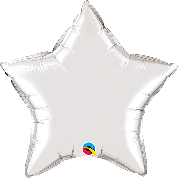 "20"" Silver Star Foil Balloon"