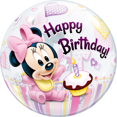 Disney Minnie Mouse 1st Birthday Bubble Balloon