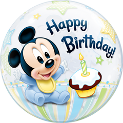 Disney Mickey Mouse 1st Birthday Bubble Balloon