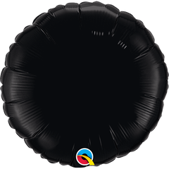 "18"" Black Circular Foil Balloon"