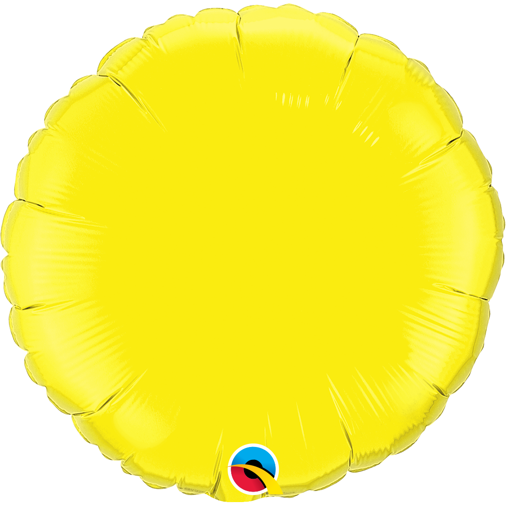 "18"" Yellow Circular Foil Balloon"