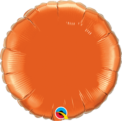 "18"" Orange Circular Foil Balloon"