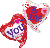 You & Me Two Hearts Balloon