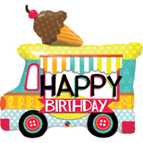 Adorable Ice Cream Truck Shaped Birthday Balloon