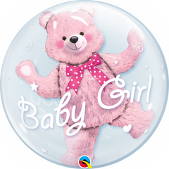 Baby Pink Teddy Bear Bubble Balloon