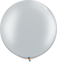 "Pearl Silver 30"" Round Balloons"